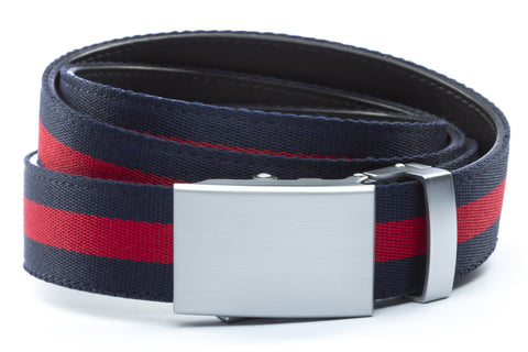 1-25-quot-classic-buckle-in-silver 1-25-quot-navy-red-stripe-cloth-strap
