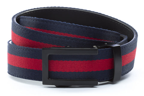 1-25-quot-traditional-buckle-in-black 1-25-quot-navy-red-stripe-cloth-strap