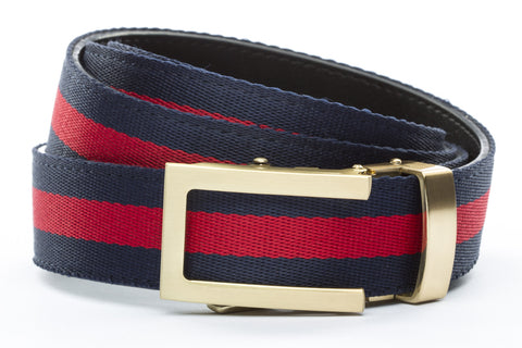 1-25-quot-traditional-buckle-in-gold 1-25-quot-navy-red-stripe-cloth-strap
