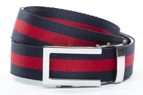 1-25-quot-nickel-free-traditional-buckle 1-25-quot-navy-red-stripe-cloth-strap