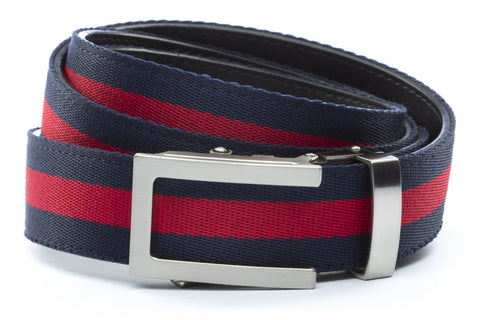1-25-quot-traditional-buckle-in-silver 1-25-quot-navy-red-stripe-cloth-strap