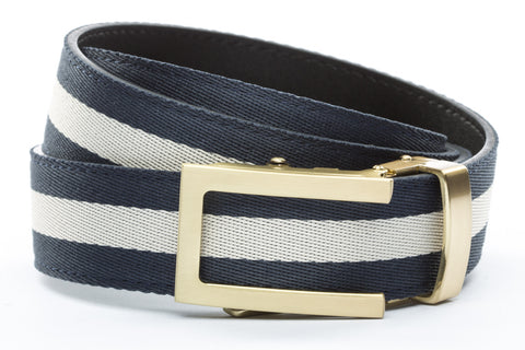 1-25-quot-traditional-buckle-in-gold 1-25-quot-navy-white-stripe-cloth-strap
