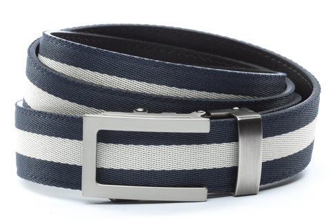 1-25-quot-traditional-buckle-in-gunmetal 1-25-quot-navy-white-stripe-cloth-strap