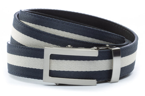 1-25-quot-traditional-buckle-in-silver 1-25-quot-navy-white-stripe-cloth-strap