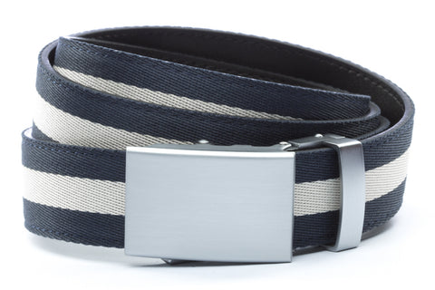1-25-quot-classic-buckle-in-silver 1-25-quot-navy-white-stripe-cloth-strap
