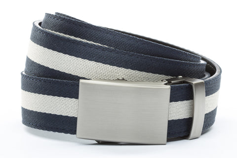 1-25-quot-classic-buckle-in-gunmetal 1-25-quot-navy-white-stripe-cloth-strap