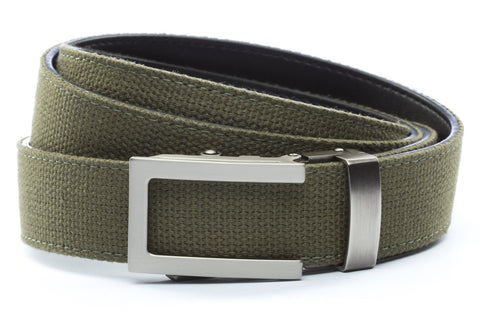 1-25-quot-traditional-buckle-in-gunmetal 1-25-quot-olive-drab-canvas-strap