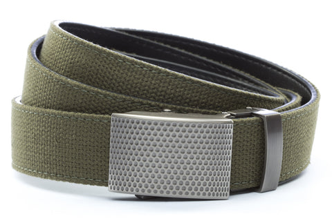 1-25-quot-anson-golf-buckle-in-gunmetal 1-25-quot-olive-drab-canvas-strap