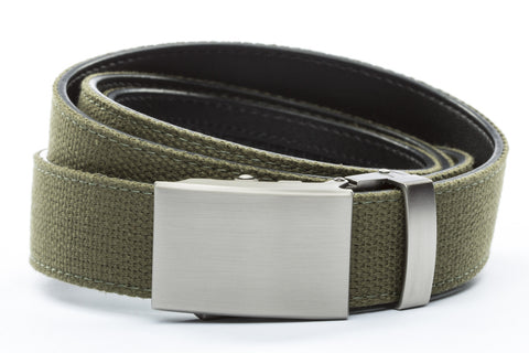 1-25-quot-classic-buckle-in-gunmetal 1-25-quot-olive-drab-canvas-strap