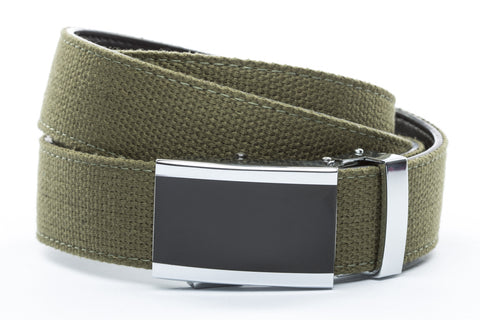 1-25-quot-onyx-buckle 1-25-quot-olive-drab-canvas-strap