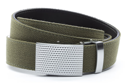 1-25-quot-anson-golf-buckle-in-silver 1-25-quot-olive-drab-canvas-strap