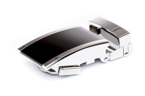 "1.25"" Onyx Buckle in Silver - Anson Belt & Buckle"