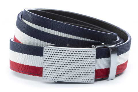 1-25-quot-anson-golf-buckle-in-silver 1-25-quot-red-white-blue-cloth-strap