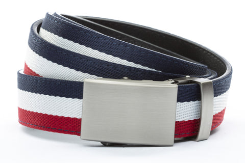 1-25-quot-classic-buckle-in-gunmetal 1-25-quot-red-white-blue-cloth-strap