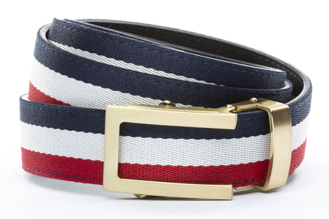 1-25-quot-traditional-buckle-in-gold 1-25-quot-red-white-blue-cloth-strap