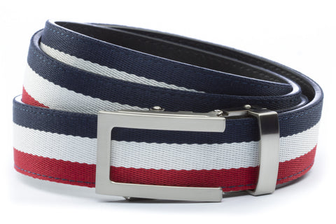 1-25-quot-traditional-buckle-in-silver 1-25-quot-red-white-blue-cloth-strap