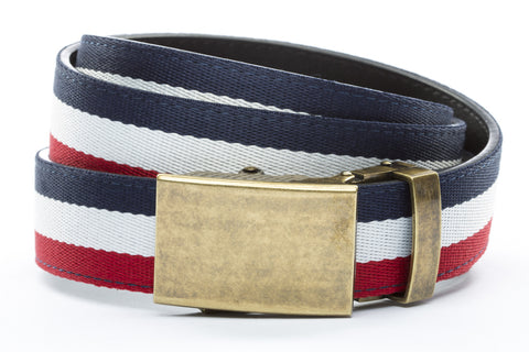 1-25-quot-classic-buckle-in-antiqued-gold 1-25-quot-red-white-blue-cloth-strap