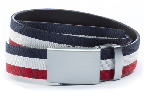 1-25-quot-classic-buckle-in-silver 1-25-quot-red-white-blue-cloth-strap