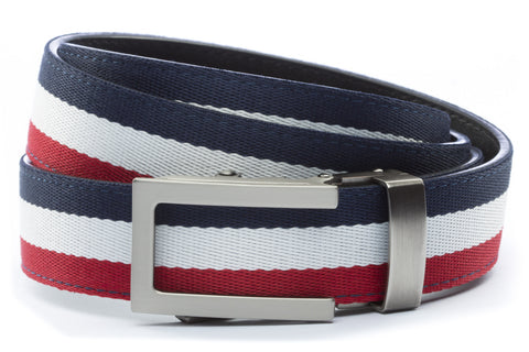 1-25-quot-traditional-buckle-in-gunmetal 1-25-quot-red-white-blue-cloth-strap