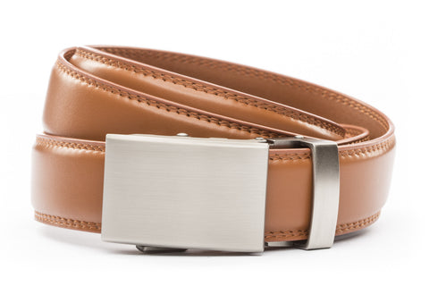 1-25-quot-classic-buckle-in-gunmetal 1-25-quot-saddle-tan-leather-strap