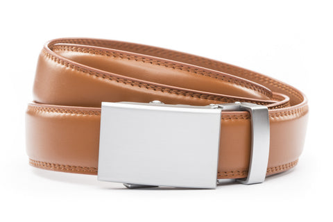 1-25-quot-classic-buckle-in-silver 1-25-quot-saddle-tan-leather-strap