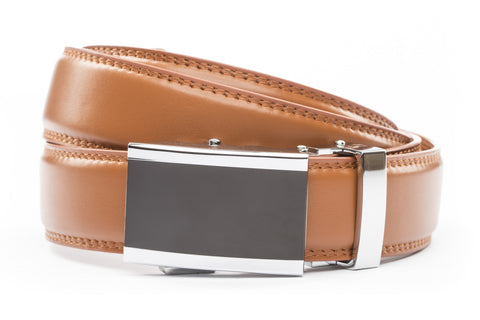 1-25-quot-onyx-buckle 1-25-quot-saddle-tan-leather-strap