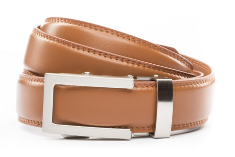 1-25-quot-traditional-buckle-in-silver 1-25-quot-saddle-tan-leather-strap