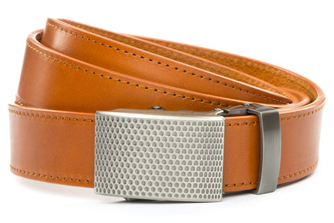1-25-quot-anson-golf-buckle-in-gunmetal 1-25-quot-saddle-tan-vegetable-tanned-leather-strap