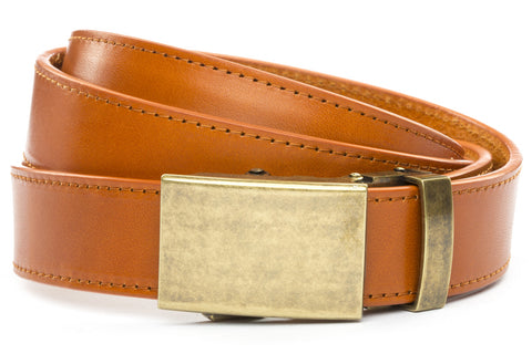 1-25-quot-classic-buckle-in-antiqued-gold 1-25-quot-saddle-tan-vegetable-tanned-leather-strap