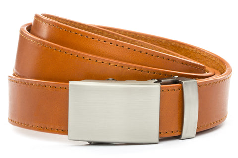 1-25-quot-classic-buckle-in-gunmetal 1-25-quot-saddle-tan-vegetable-tanned-leather-strap