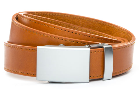1-25-quot-classic-buckle-in-silver 1-25-quot-saddle-tan-vegetable-tanned-leather-strap