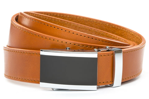 1-25-quot-onyx-buckle 1-25-quot-saddle-tan-vegetable-tanned-leather-strap