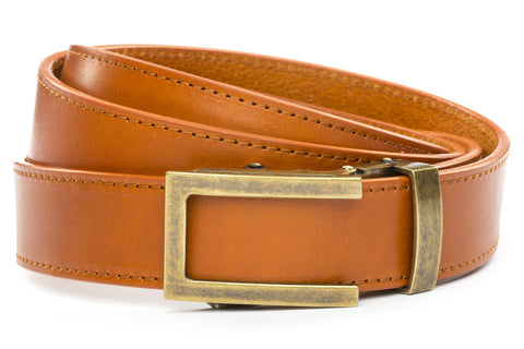 1-25-quot-traditional-buckle-in-antiqued-gold 1-25-quot-saddle-tan-vegetable-tanned-leather-strap