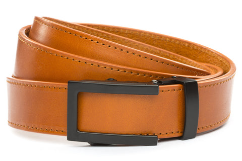 1-25-quot-traditional-buckle-in-black 1-25-quot-saddle-tan-vegetable-tanned-leather-strap