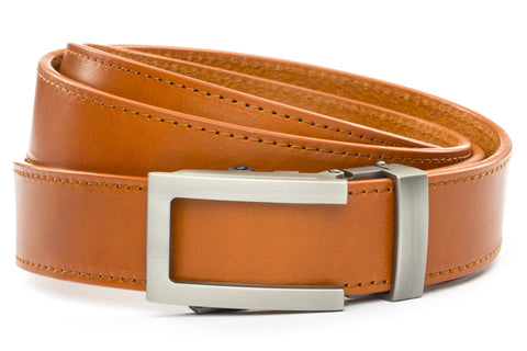1-25-quot-traditional-buckle-in-gunmetal 1-25-quot-saddle-tan-vegetable-tanned-leather-strap