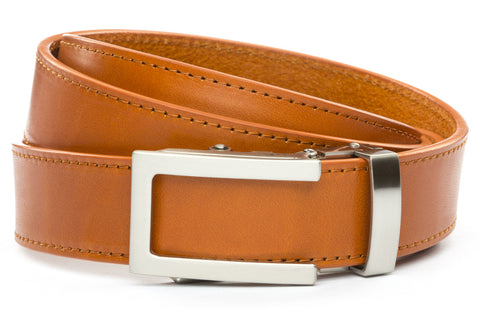 1-25-quot-traditional-buckle-in-silver 1-25-quot-saddle-tan-vegetable-tanned-leather-strap