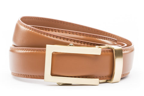 1-25-quot-traditional-buckle-in-gold 1-25-quot-saddle-tan-leather-strap