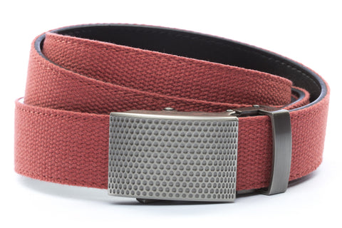 1-25-quot-anson-golf-buckle-in-gunmetal 1-25-quot-salmon-canvas-strap