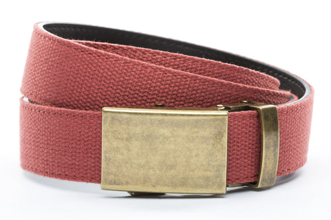 1-25-quot-classic-buckle-in-antiqued-gold 1-25-quot-salmon-canvas-strap