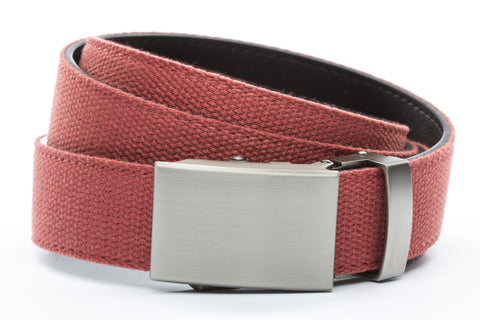 1-25-quot-classic-buckle-in-gunmetal 1-25-quot-salmon-canvas-strap