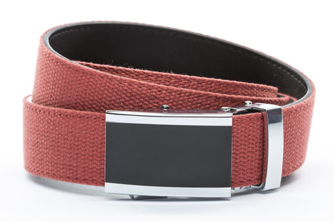 1-25-quot-onyx-buckle 1-25-quot-salmon-canvas-strap