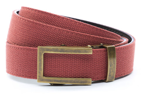 1-25-quot-traditional-buckle-in-antiqued-gold 1-25-quot-salmon-canvas-strap