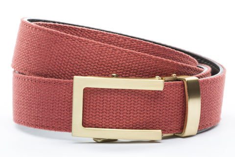 1-25-quot-traditional-buckle-in-gold 1-25-quot-salmon-canvas-strap