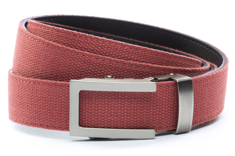 1-25-quot-traditional-buckle-in-gunmetal 1-25-quot-salmon-canvas-strap