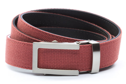1-25-quot-traditional-buckle-in-silver 1-25-quot-salmon-canvas-strap