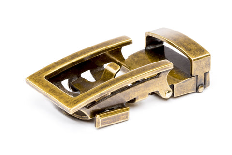 "1.25"" Traditional Buckle in Antiqued Gold - Anson Belt & Buckle"