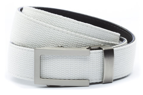 1-25-quot-traditional-buckle-in-gunmetal 1-25-quot-white-canvas-strap