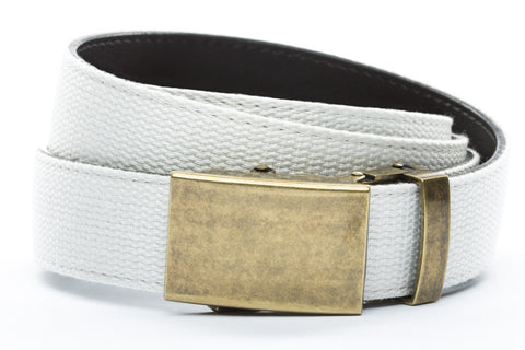 1-25-quot-classic-buckle-in-antiqued-gold 1-25-quot-white-canvas-strap