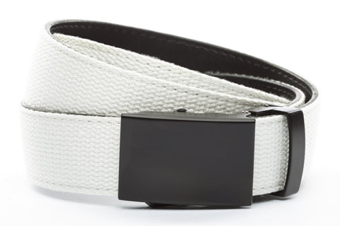 1-25-quot-classic-buckle-in-black 1-25-quot-white-canvas-strap