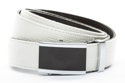 1-25-quot-onyx-buckle 1-25-quot-white-canvas-strap